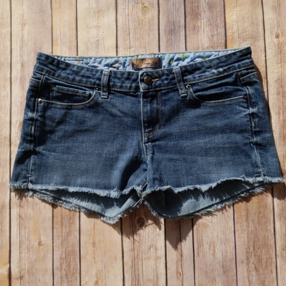 PAIGE Pants - Paige Silver Lake Cut Off Jean Shorts - Size 27
